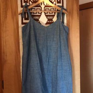 JCrew Soft Denim Tie-Dress